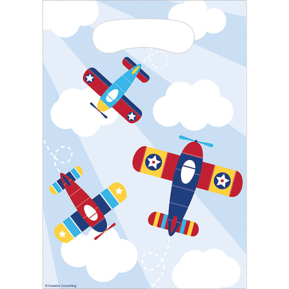 Little Flyer Airplane Loot Bag 8/Pk