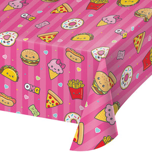Junk Food Fun Plastic tablecover