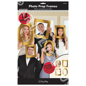 Photo Booth Frame Props Gold