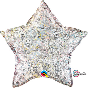 "20"" holographic star silver"
