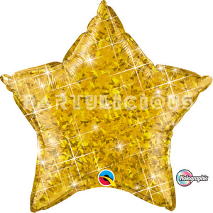 "20"" holographic star gold"
