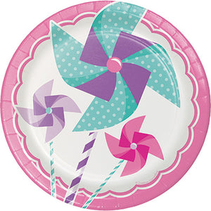"Turning One Girl 7"" Plate"