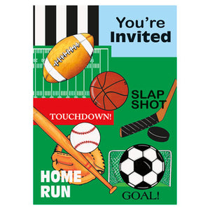 Classic Sports Party Invitaions