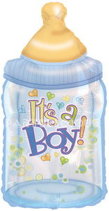 "34"" BABY BOY BOTTLE FOIL BALLOON"