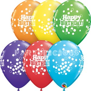 "11"" Birthday confetti dots"