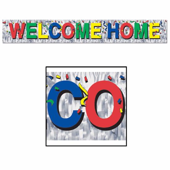 Metallic Welcome Home Fringe Banner