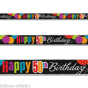50th Birthday Cheer Foil Banner