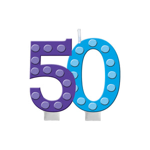 50th Birthday Molded Candle - Pack Of 1