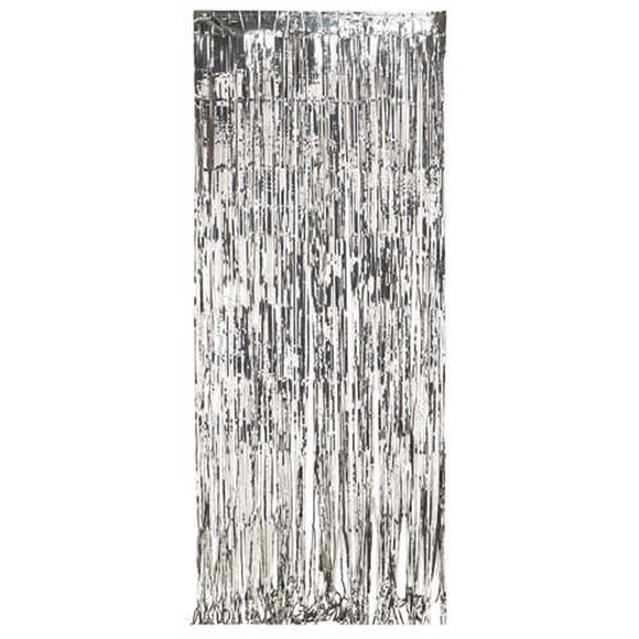 Silver Foil door Fringe Curtain