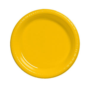 Yellow Plastic Plates