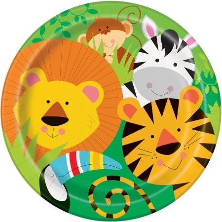 Animal jungle paper plates