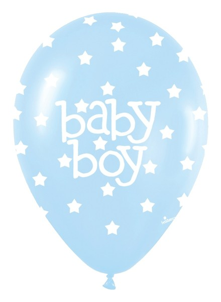 11 Inches Baby Boy Blue Balloons (Pack of 50)