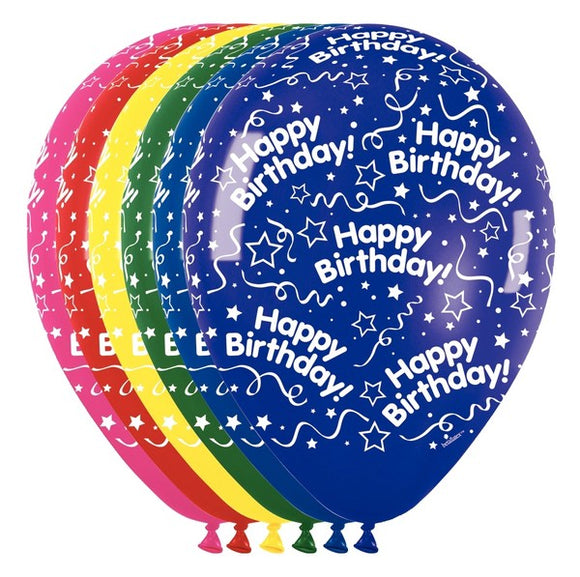 All Around Birthday 11 Inches Balloons - Pack of 50