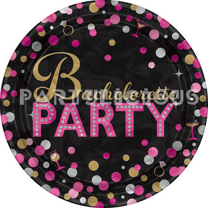 "7"" Bachlorette Party Plates"
