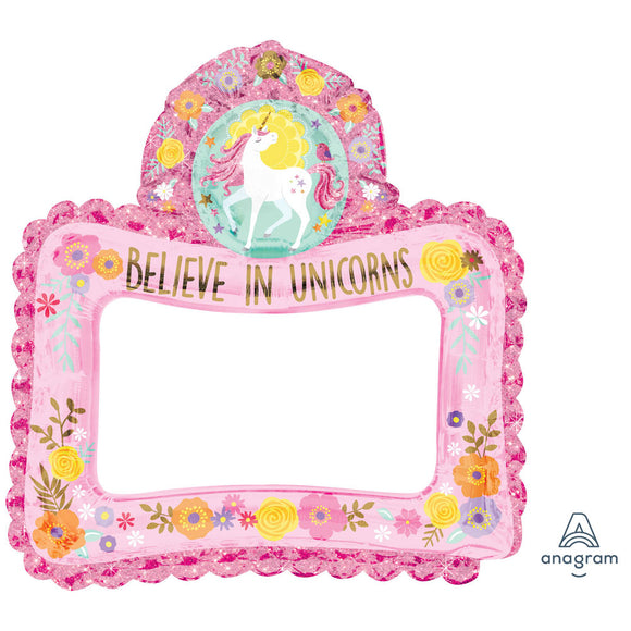 Magical Unicorn inflatable foil selfie frame
