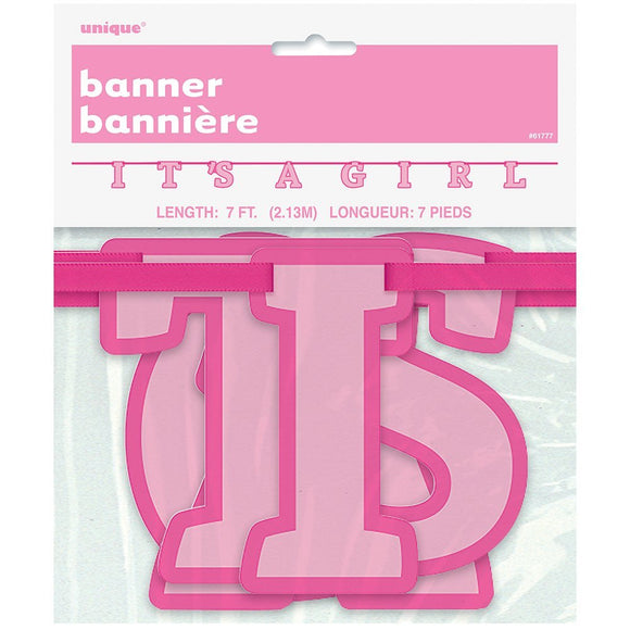 It's a Girl Letter Banner 7 FT