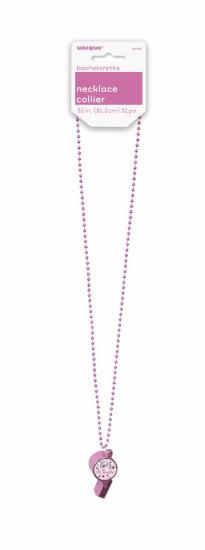 Bachelorette Bead Necklace W/Party Whistle