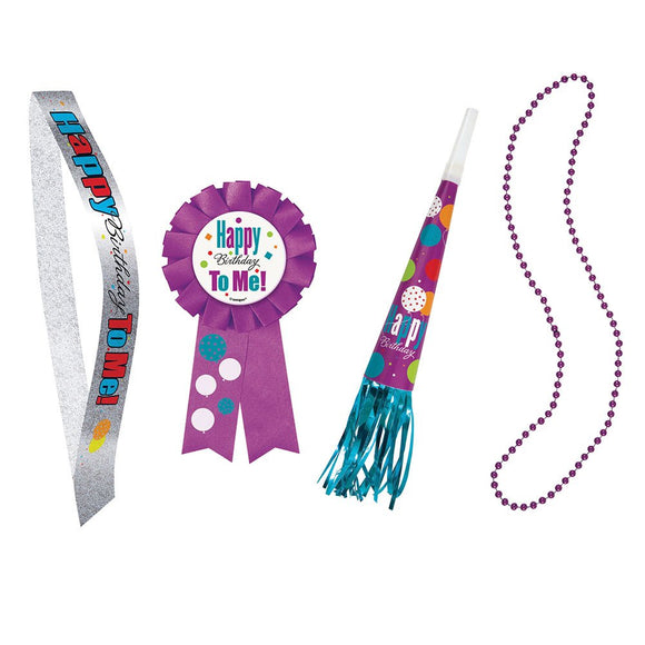 Party kit Purple Confetti