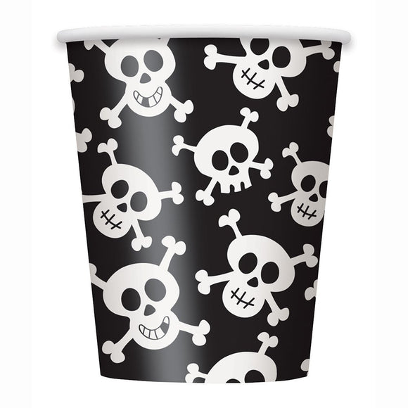 Skulls 9oz Hot/cold Party Cups - Pack of 8