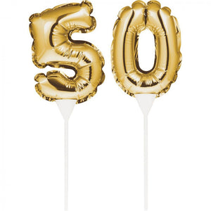 "Balloon Cake Topper ""50"""