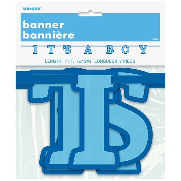 It's a Boy Letter Banner 7 FT