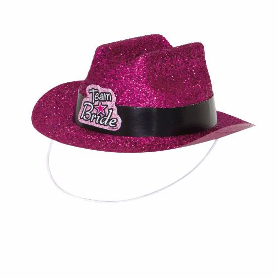 Team Bride Mini Pink Cowboy Hat
