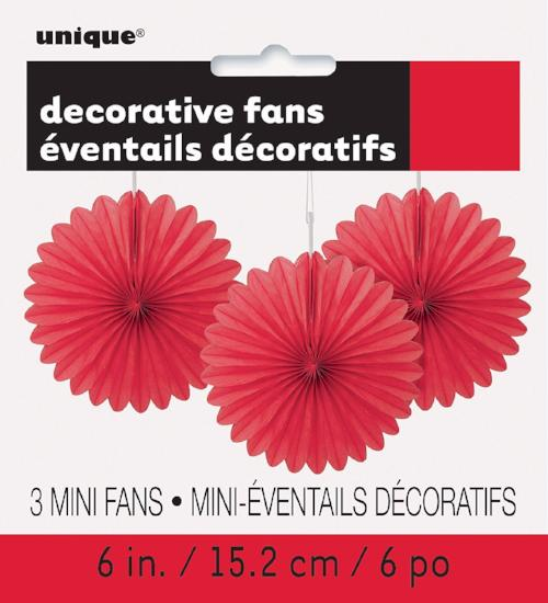 Ruby Red Fan Decor