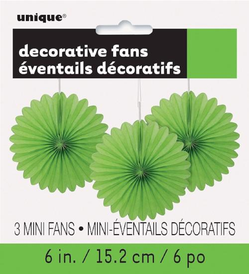 Lime Green Fan Decor