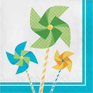 Turning One Boy luncheon Napkins