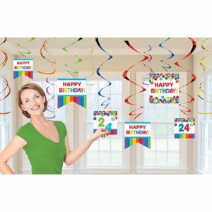 Rainbow Customizable Value Pack Foil Swirl Decoration