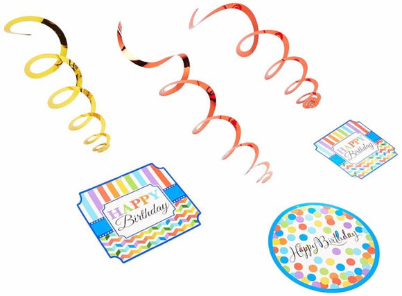 Bright Birthday Value Pack Foil Swirl Decoration