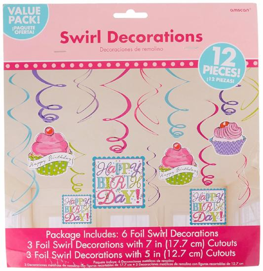 Sweet Party Value Pack Foil Swirls Decoration