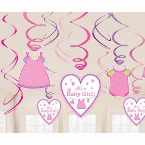 Its A Girl Decor Swirls Kit