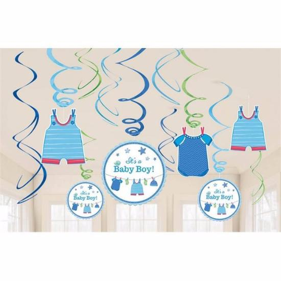 Its A Boy Decor Swirls Kit