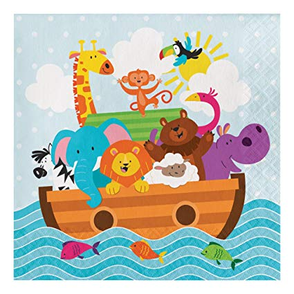 Noah Ark Luncheon napkins