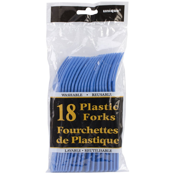 Royal Blue Forks 18/pack