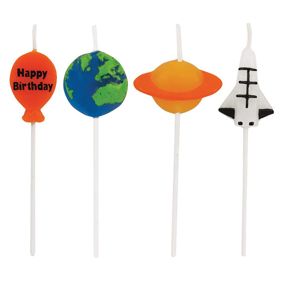 Space Pick Candle 4/pk