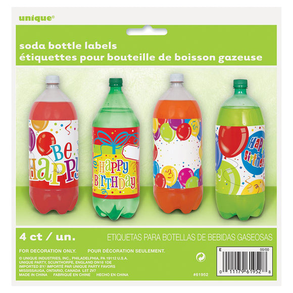 Celebration bday soda bottle labels