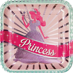 "Princess Party 9"" Square Plate"