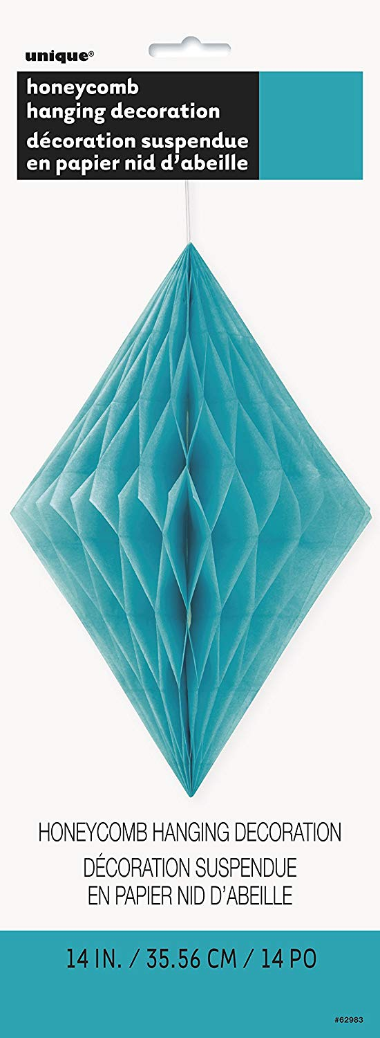 Caribben Teal Diamond Tissue Decoration
