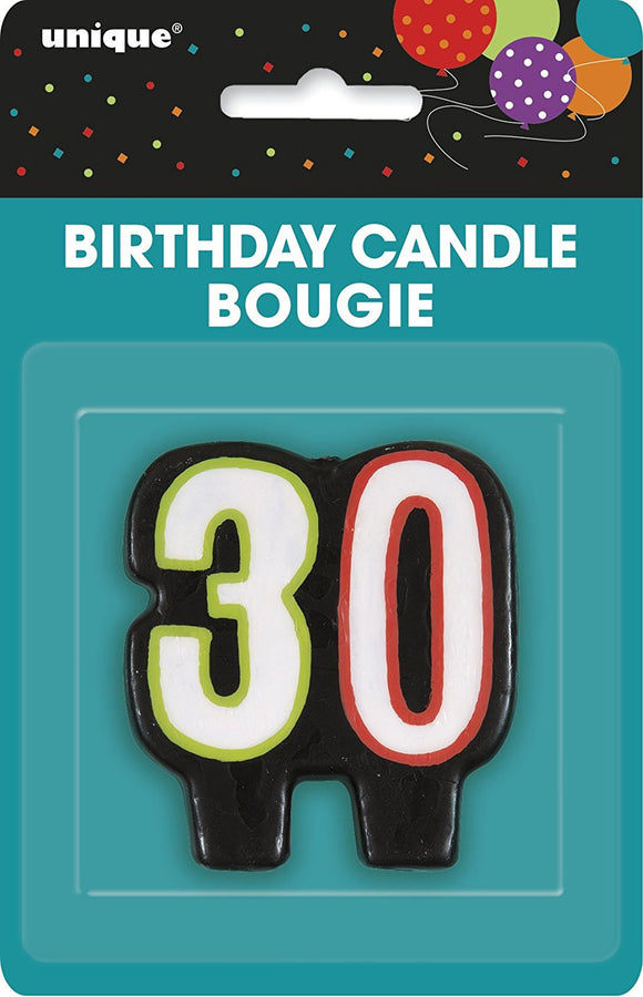 Number Candle 30 - Pack Of 1