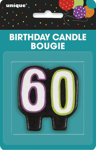 Number Candle 60 - Pack Of 1