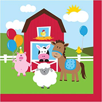 Farm house Fun Paper Napkins