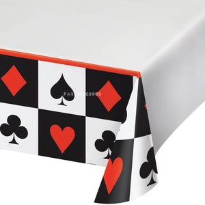 CARD NIGHT PLASTIC TABLECOVER