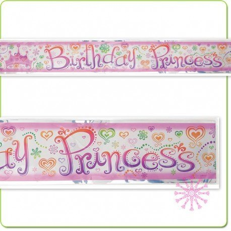 Princess Diva 12 ft Foil Banner