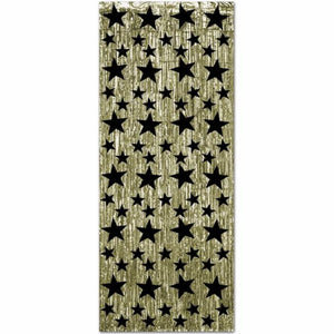 Gold Black Star 1ply Fr Gleam N Curtain