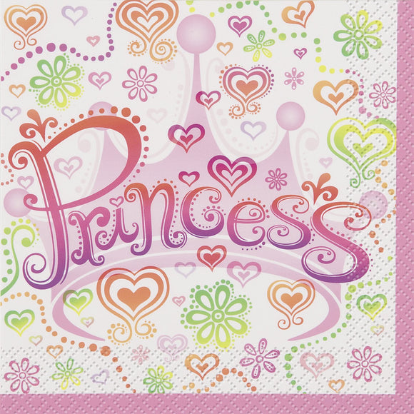 Princess Diva Luncheon Napkins - 2Ply