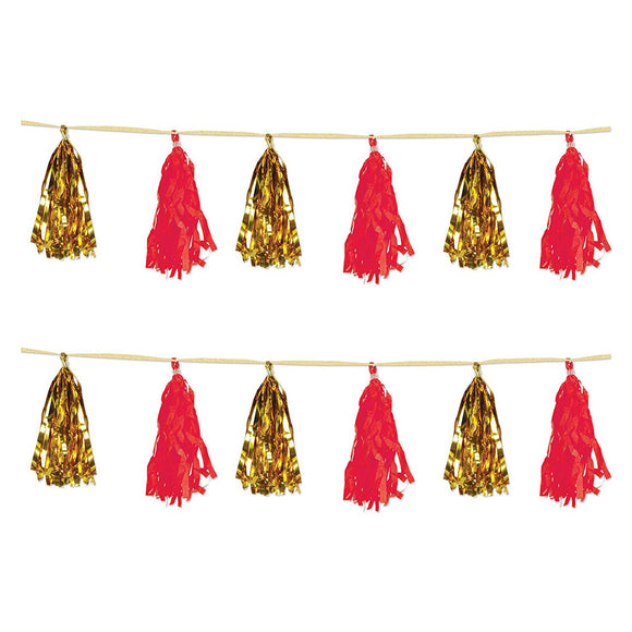 Metallic & Tissue Tassel Garland