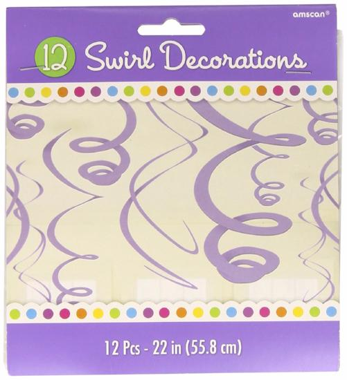 Purple Decoration Swirls