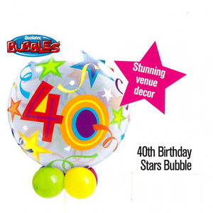40th Birthday Stars Bubble